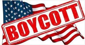 Boycott les États Unis !!!