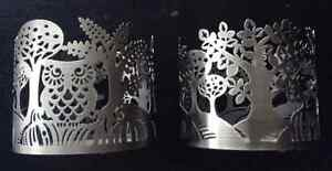 Bath and Body Works jar Candle Holder pair - new