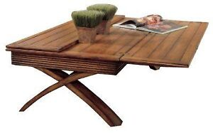 COFFEE  TABLE with extensions. W30 ( Open W 60 ) X L 50 X H 18..