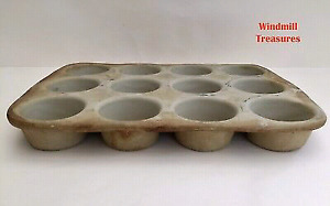 Pampered Chef Family Heritage Large Stoneware Muffin Pan $40