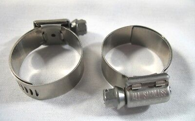 4 Breeze Hose Liner Clamps 9412 All Stainless Steel 1116 to 1 14 Silicone 32mm