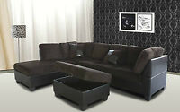 Brand new corduroy sectional with ottoman $548 in stock we deliv