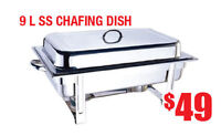 9L Stainless Steel Chafing Dish, Warehouse Sale, $49 Only!!!
