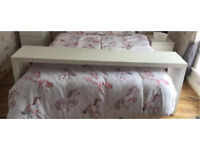 White king size over the bed table