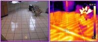 In Floor Heating Leak Thermal Inspection. Home Thermal Imaging