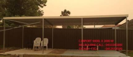 flat carport   9  x  3   $ 1550
