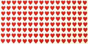 Herzaufkleber