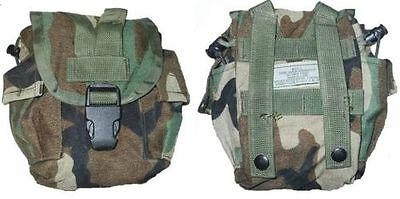 10 (Ten) US Military Army Woodland MOLLE II Canteen Cover Utility Pouch