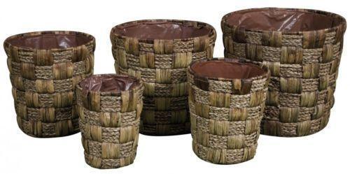 pflanzk bel rattan blument pfe k sten ebay. Black Bedroom Furniture Sets. Home Design Ideas
