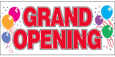 Grand Opening Vinyl Banner Sign 2x4 Ft - Rw