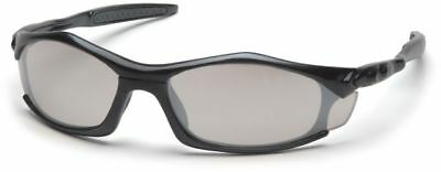 Pyramex Solara Safety Glasses with Black Frame and Indoor/Outdoor (Solara Glasses)