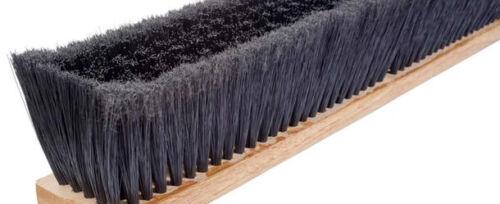 "Magnolia Brush #3836-SL 36"" PET Green Flagged Floor and Garage Push Broom Head"