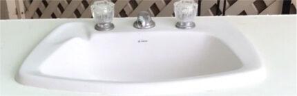 Bathroom vanity laundry tub shower screen bath tub oven gas stove