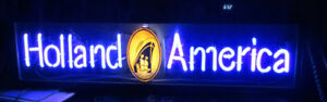Vintage HOLLAND AMERICA travel agency neon sign