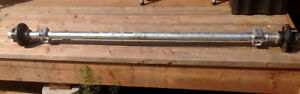 """Trailer axle, 60"""", rated for 2000 lbs"""