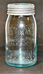 Toronto Winnipeg EATONS CROWN Preserving Jar - Vintage jar is marked CROWN