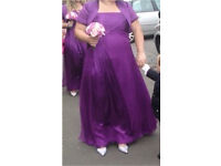 Monsoon bridesmaid purple dresses plus boleros sizes 22&16/18