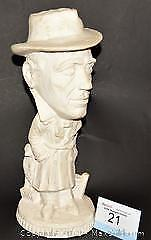 HUMPHREY BOGART chalk ware statue suitable for painting