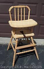 Vintage Toy/Plant Stand Tall Chair - C