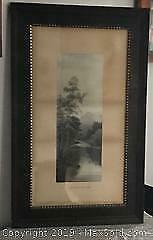 Antique Frame, Wood back - with Summer Morning Print