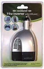 Rockland 75w Power Inverter with USB: Brand new in sealed container