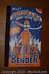Rocket USA Tin Wind Up Futurama 'Bender' Character Model With Box