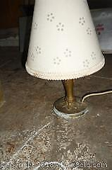Small Metal Art Deco table lamp -A