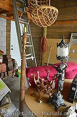Lamp And Plant Stand- A
