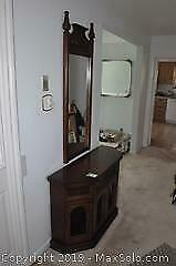 Vintage Cabinet and Hall Mirror B