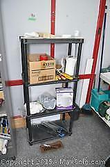 Resin Shelving Unit And Contents A