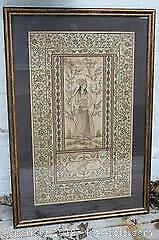 Large, 18th C/19th C., Antique Very Fine Indian Mughul Silk Painting of a Princess, Possibly Nur Jahan