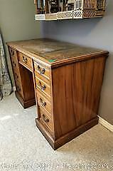 Antique leather top desk.