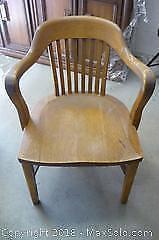 Solid Oak Vintage Armchair - B