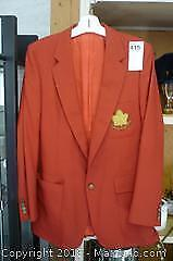Canadian Rugby Union Red Blazer -A