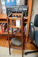Vintage Plant Stand And Warmer - B
