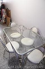 Outdoor Table And 4 Chairs - C