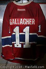 NHL Licensed Signed Brendan Gallagher Jersey B
