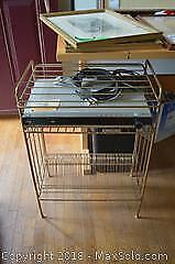 Vintage Album Wire Stand And DVD Player- A