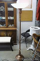 Art Deco Torchiere Standing Floor Lamp (Needs Rewiring) - A