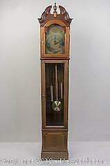 Wooden Grandfather Style Decorative Gordon and Soskin Clock