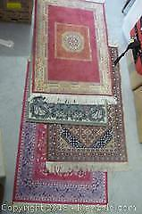Four Small Machine-Made Rugs as Pictured - A