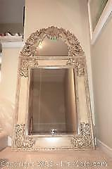 Romantic, vintage style very large mirror in carved frame B