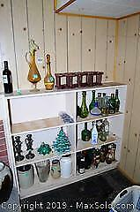 Decanter, Candle Holders, Crock And More B