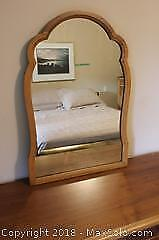 Malcolm and Hill Wood Framed Mirror
