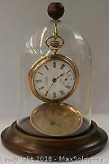 Antique Waltham Pocket Watch with Glass dome Display