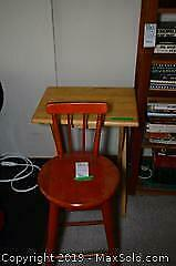 Stool and Table A
