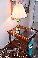 Side Table And Lamp C