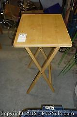 Wooden folding table. -C