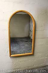 Mid Century Danish Teak Mirror. Made in Denmark by Jesper