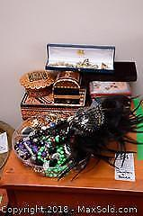 Costume Jewellery And Boxes